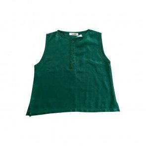 lumik-Lumik Green Plain Sleveeless Blouse -
