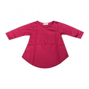 lumik-Lumik Maroon Plain Girly Long Sleeve-