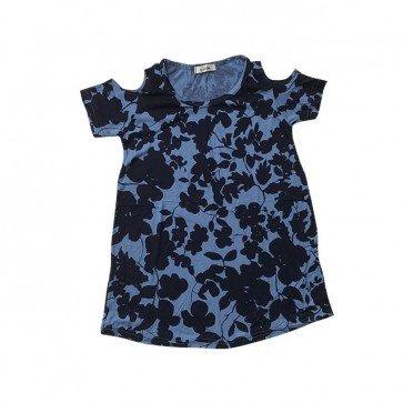 lumik-Royal Blue Batwing Dress-