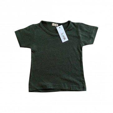 lumik-Lumik Dark Green Plain Tee Basic-