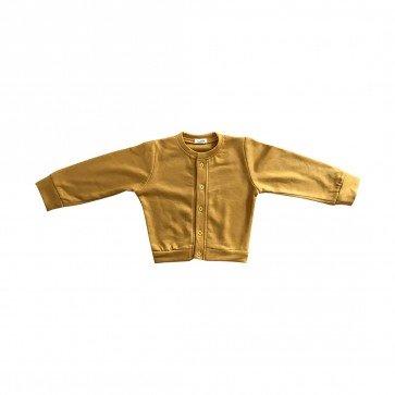 lumik-Lumik Mustard Plain Cardigan-