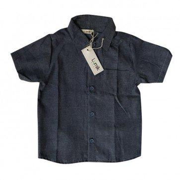 lumik-Dark Denim Baby Shirt-