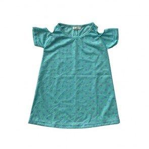 lumik-Green Dot Batwing Dress-