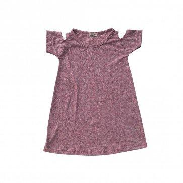 lumik-Lumik Pink Plain Batwing Dress-