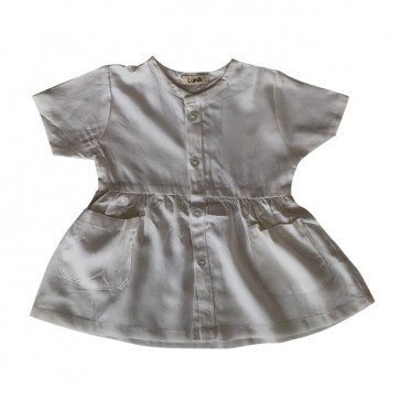 lumik-White Button Dress-
