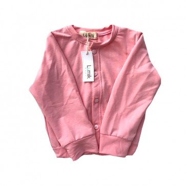 lumik-Plain Pink Cardigan-