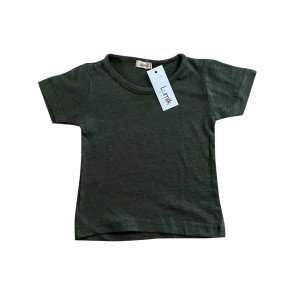 lumik-Lumik Dark Green Plain Tee Basic-