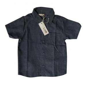 lumik-Dark Denim Baby Shirt-