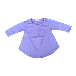 lumik-Lumik Purple Plain Girly Long Sleeve-