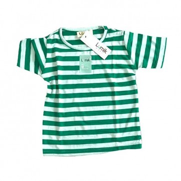 lumik-Green Stripe Tee-