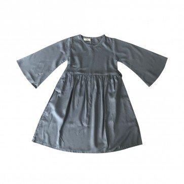 lumik-Lumik Grey Plain Gamis-