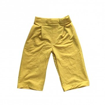lumik-Lumik Yellow Plain Kulot Pants-