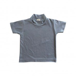 lumik-Lumik Grey Plain Turtleneck Tee -