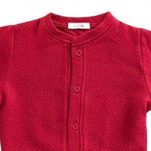 lumik-Lumik Red Plain Cardigan-