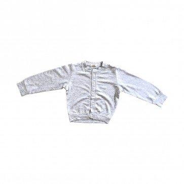 lumik-Lumik Light Grey Plain Cardigan-