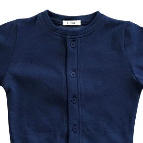 lumik-Lumik Navy Plain Cardigan-