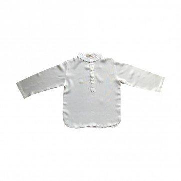 lumik-Lumik White Plain Koko Long Sleeve-
