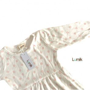 lumik-Pink Dot Formal Dress-