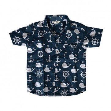lumik-Navy Shark Baby Shirt-