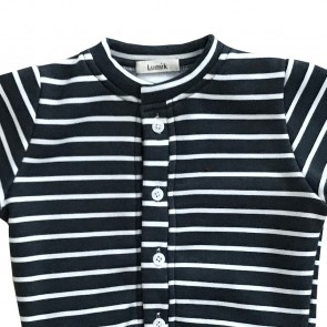 lumik-Lumik Black White Stripe Cardigan-