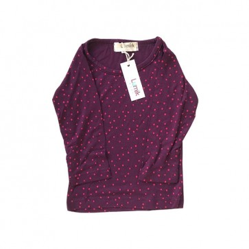 lumik-Purple Polka Long Sleeves-