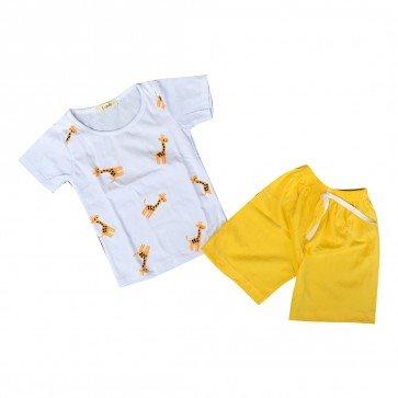 lumik-Lumik Yellow Giraffe Baju Set-