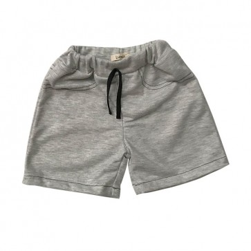 lumik-Light Grey Plain Short-