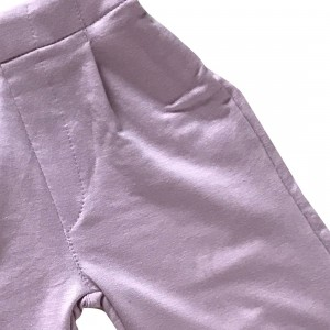 lumik-Lumik Dusty Pink Plain Kulot Pants-