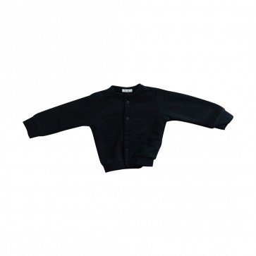 lumik-Lumik Black Plain Cardigan-