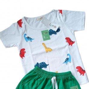 lumik-Lumik White Dino Baju Set-