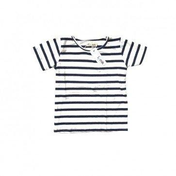 lumik-Navy Stripes Tee-