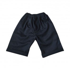 lumik-Lumik Black Plain Chino Short-