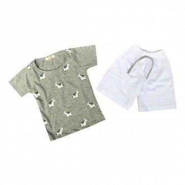 lumik-Lumik Grey Horse Baju Set-