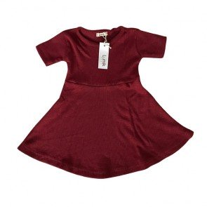 lumik-Maroon Simply Dress-