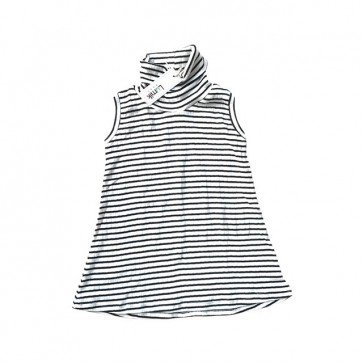 lumik-Black White Stripes Turtleneck-