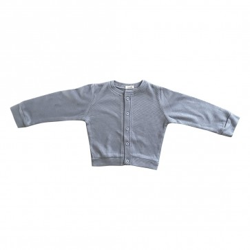 lumik-Lumik Grey Plain Cardigan-