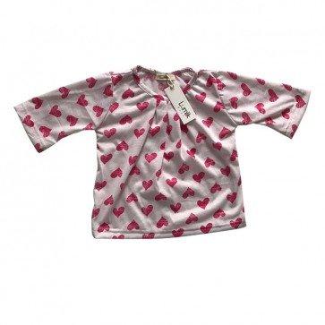 lumik-White Pink Love Girly Long Sleeves-