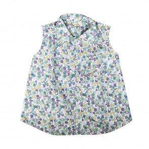 lumik-Lumik Green Flowery Shirt Girl-