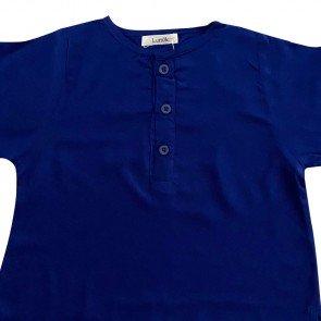 lumik-Lumik Blue Plain Lengan Stick Balik-