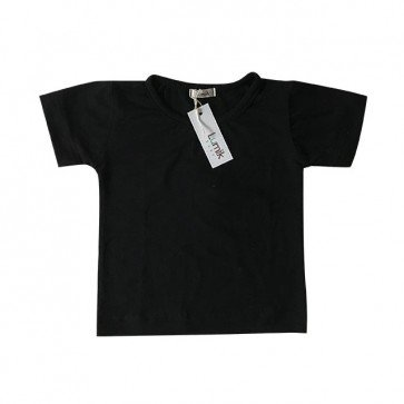lumik-Plain Black Tee-