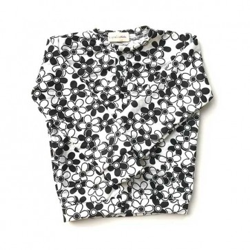 lumik-Black Floral Cardigan-