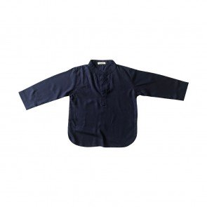 lumik-Lumik Navy Blue Plain Koko Long Sleeve-