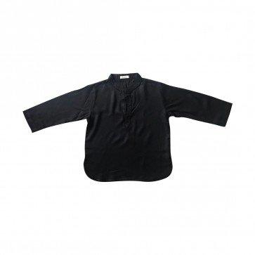 lumik-Lumik Black Plain Koko Long Sleeve-