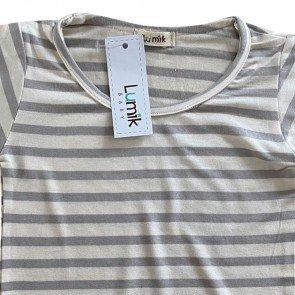 lumik-Lumik Grey Stripe Tee Basic-