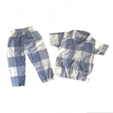 lumik-Pajamas Blue Square-