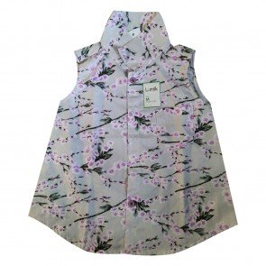 lumik-Lumik Purple Flowery Shirt Girl-