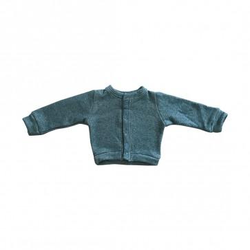 lumik-Lumik Green Plain Cardigan-