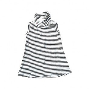 lumik-Black White Stripes Turtleneck-