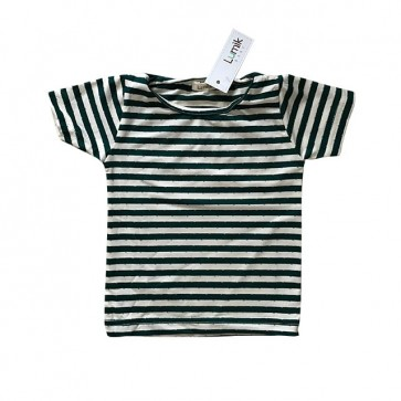 lumik-Green Stripes Tee-