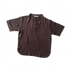 lumik-Lumik Brown Plain Koko Short Sleeve-
